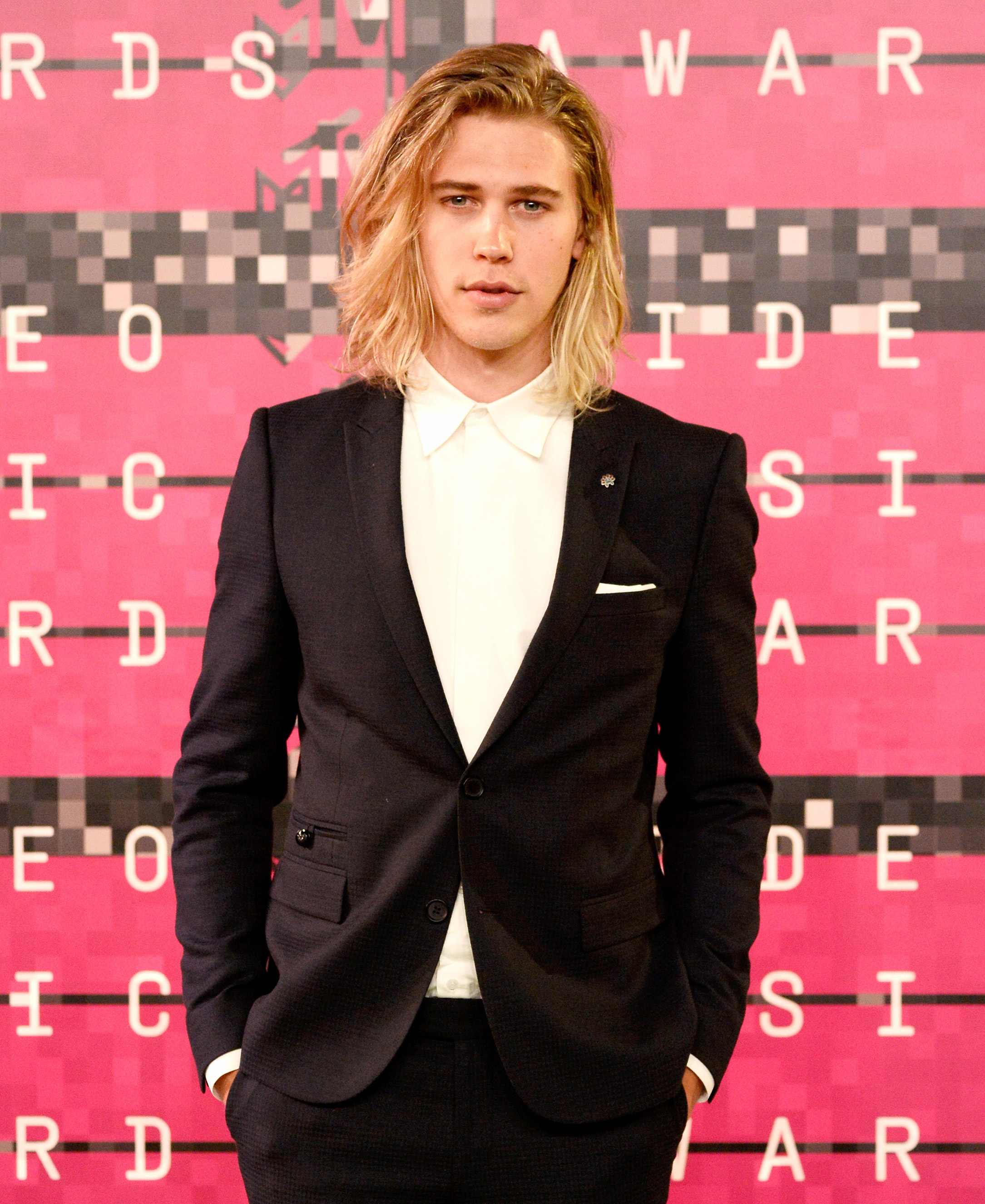 Austin Butler attends the 2015 MTV Video Music Awards at Microsoft Theater on Aug. 30, 2015, in Los Angeles.