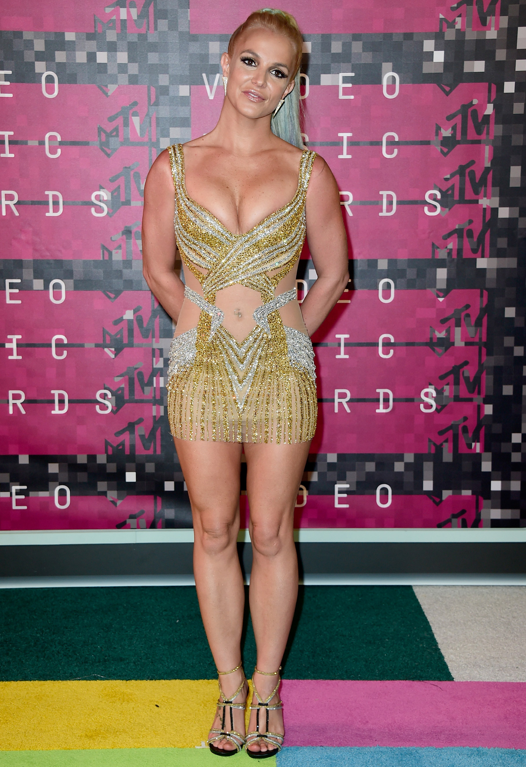 Britney Spears arrives at the 2015 MTV Video Music Awards at Microsoft Theater on Aug. 30, 2015 in Los Angeles.