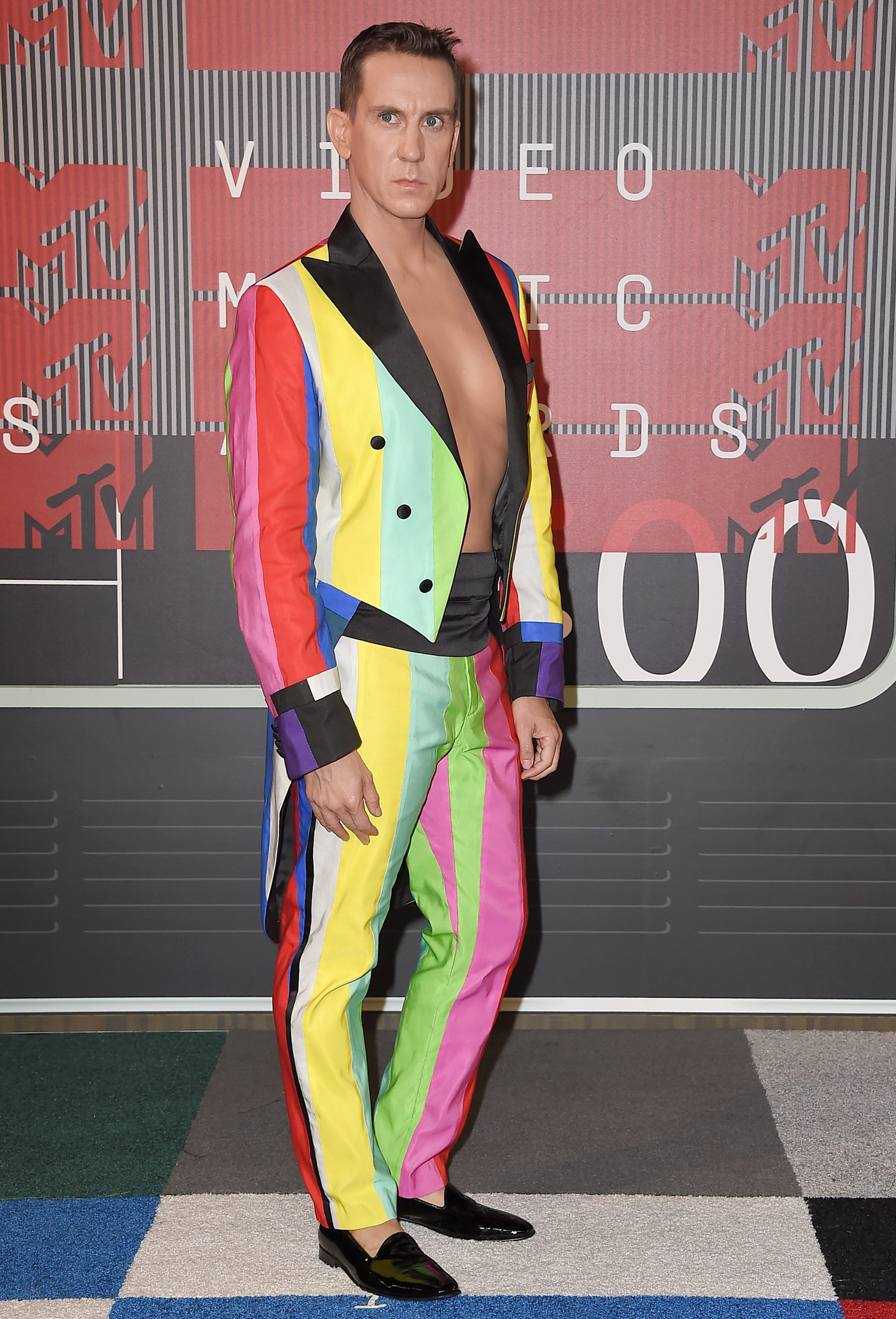 Designer Jeremy Scott arrives at the 2015 MTV Video Music Awards at Microsoft Theater on Aug. 30, 2015 in Los Angeles.