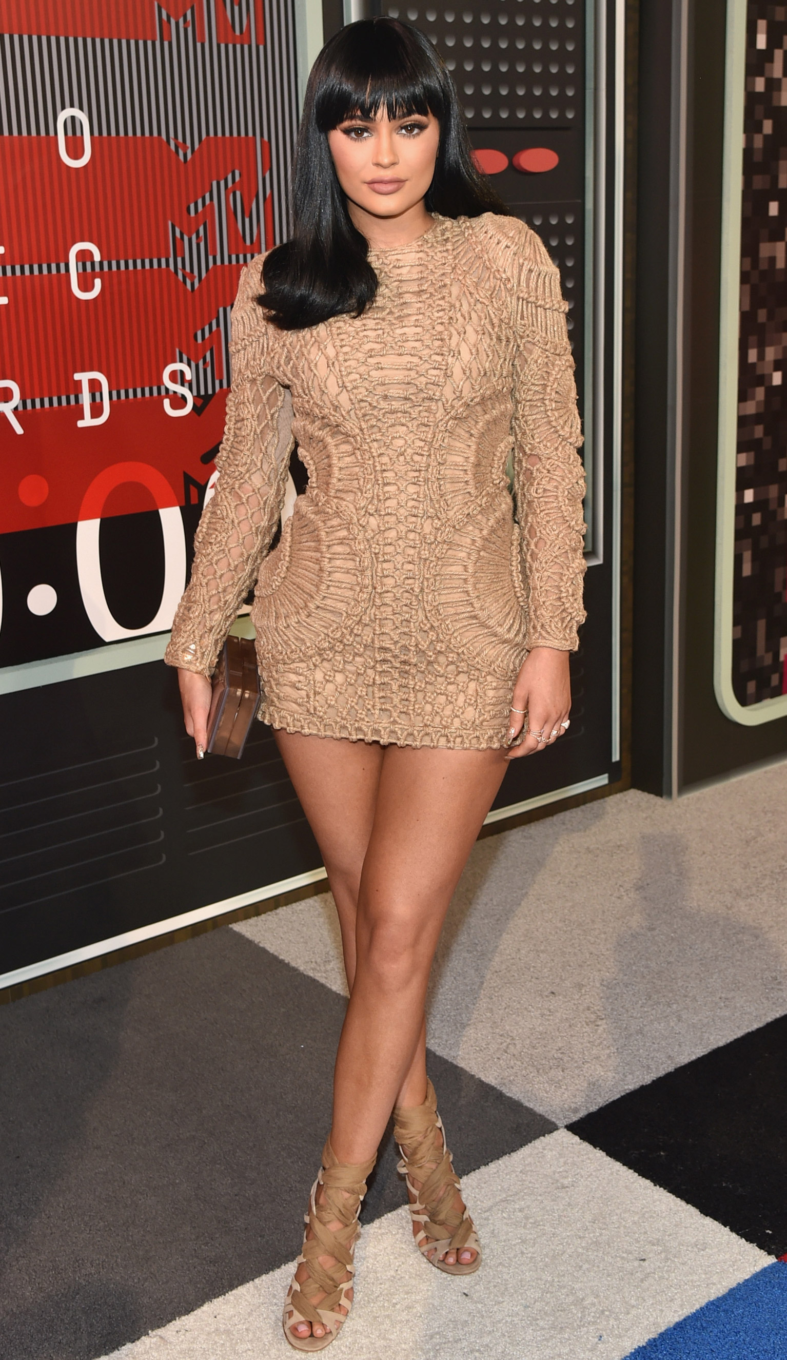 Kylie Jenner arrives at the 2015 MTV Video Music Awards at Microsoft Theater on Aug. 30, 2015 in Los Angeles.