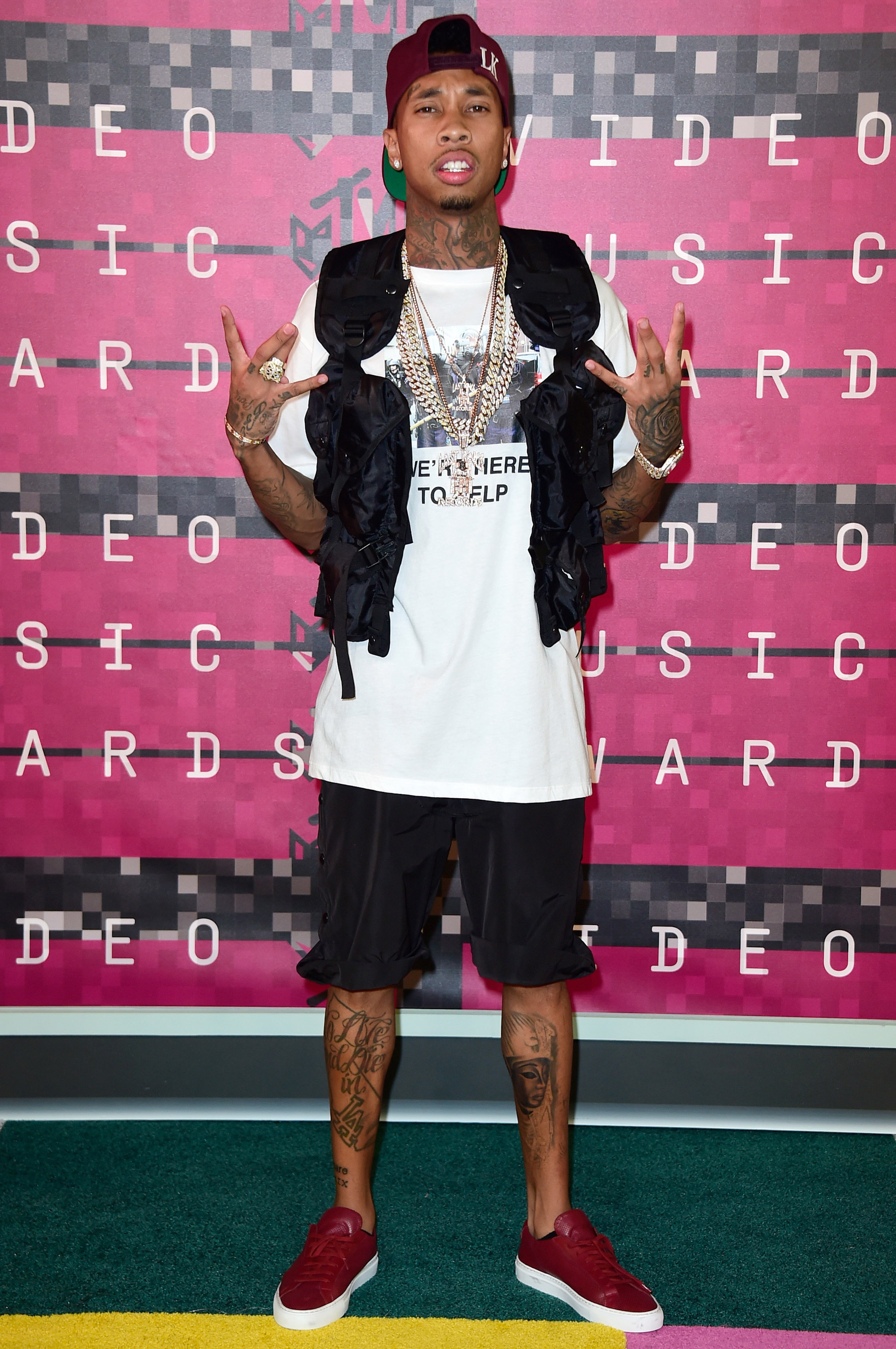 Tyga arrives at the 2015 MTV Video Music Awards at Microsoft Theater on Aug. 30, 2015 in Los Angeles.