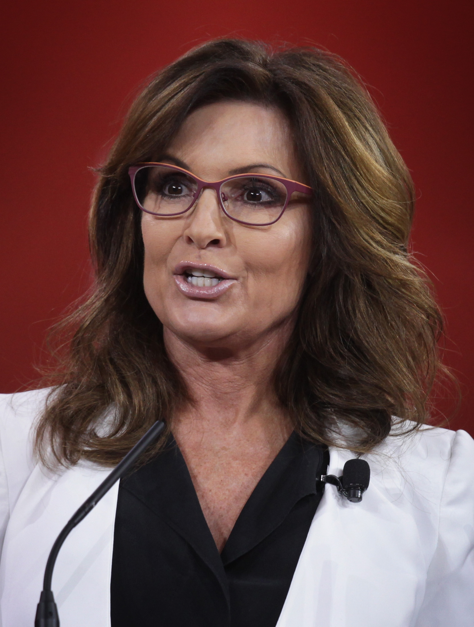 Former Alaska Governor Sarah Palin addresses the 42nd annual Conservative Political Action Conference (CPAC) on Feb. 26, 2015 in National Harbor, Maryland.