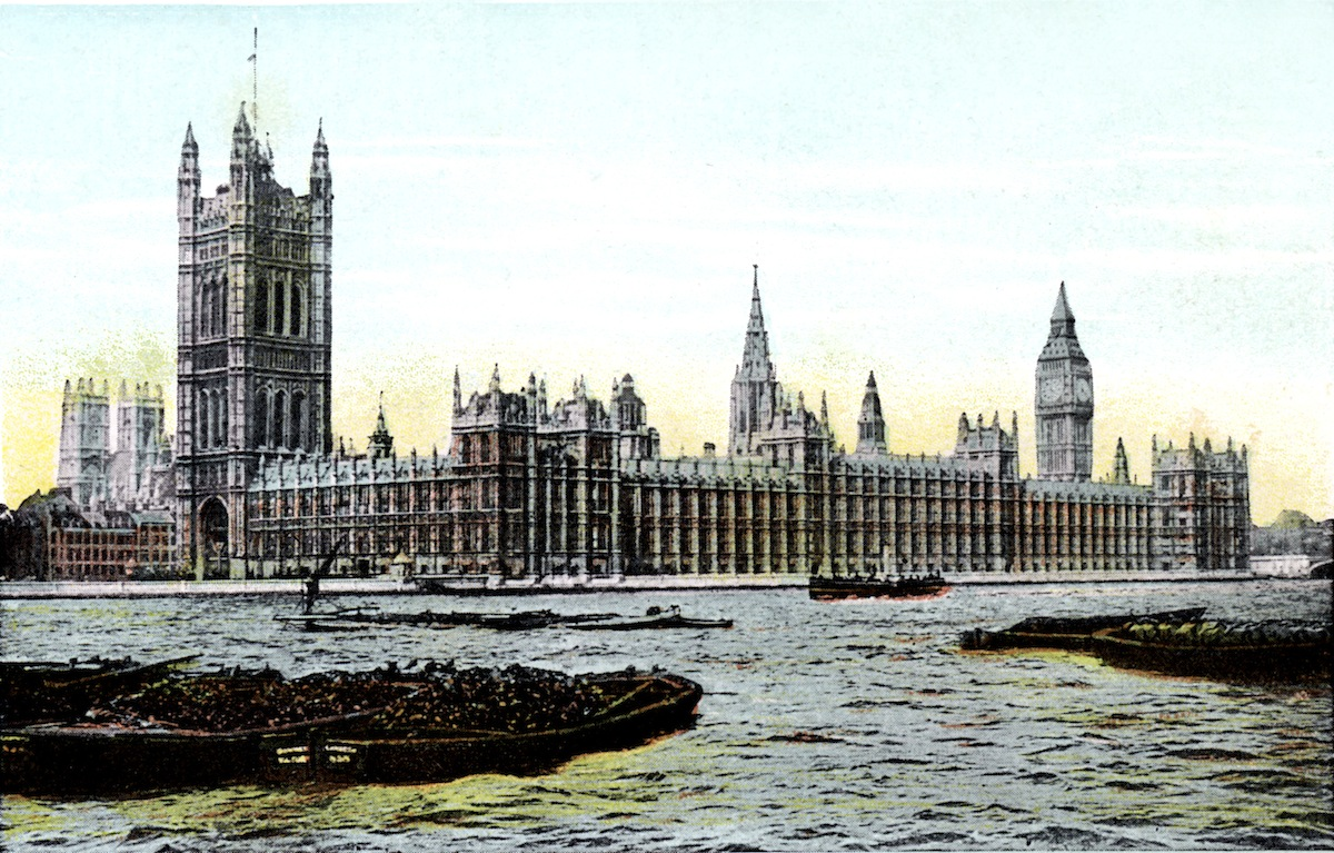 Houses of Parliament, London, 20th Century.