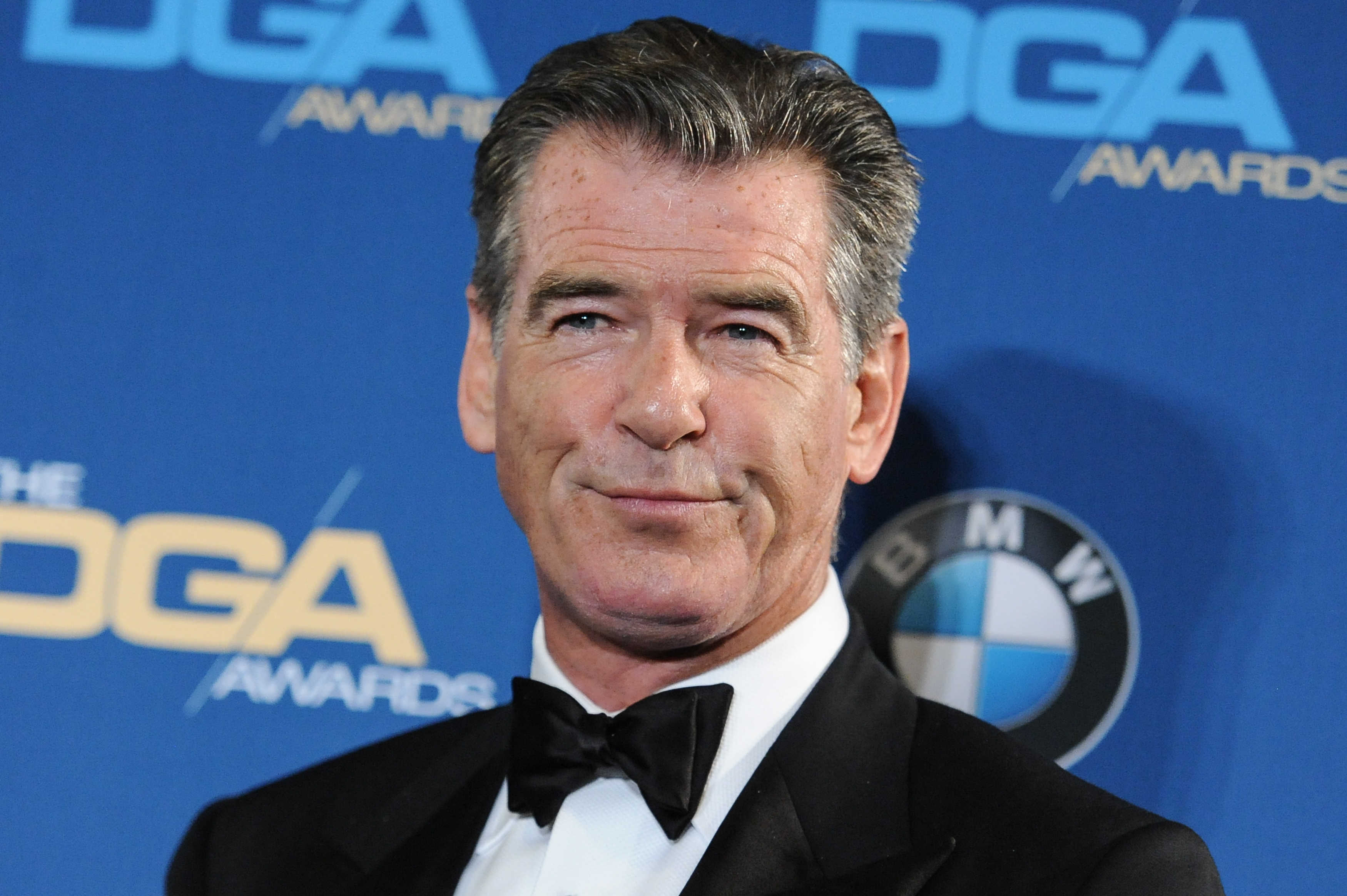 Pierce Brosnan attends the Press Room at the 67th Annual DGA Awards, in Los Angeles, Feb. 7, 2015.