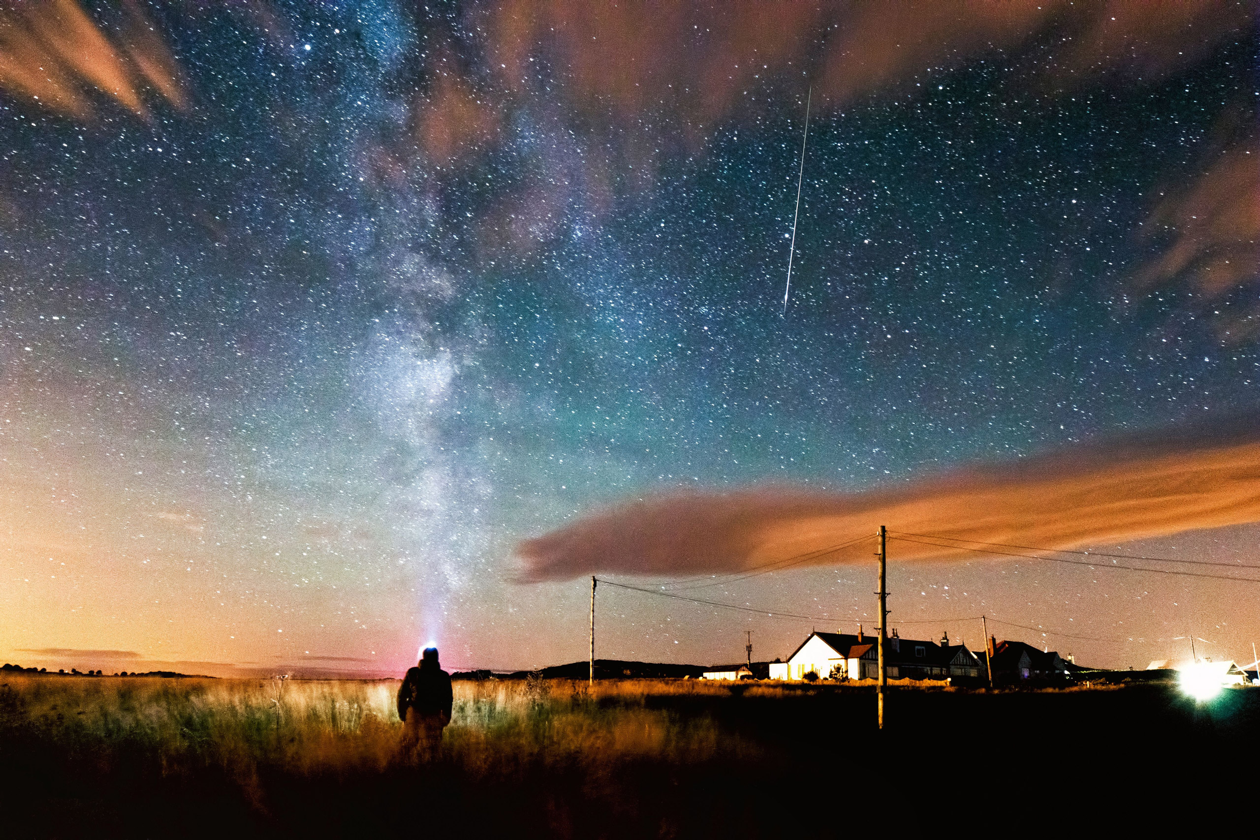 The Perseid meteor shower at Bamburgh in Northumberland in August 2015.