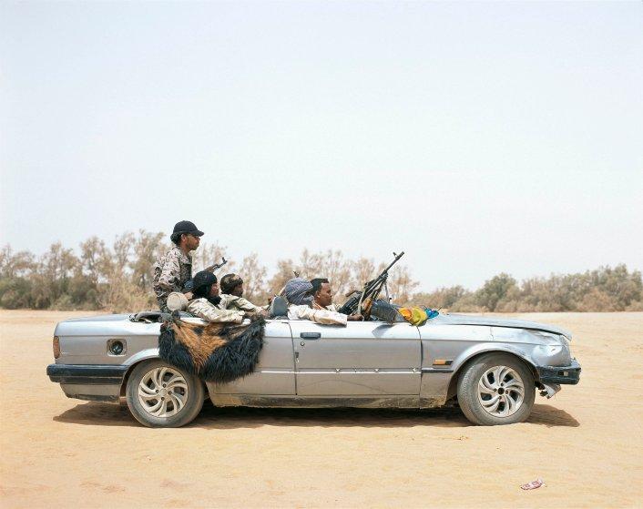 Ubari, Southern Libya, June 2015.Libyan National Army Tuareg tribal group vehicle.