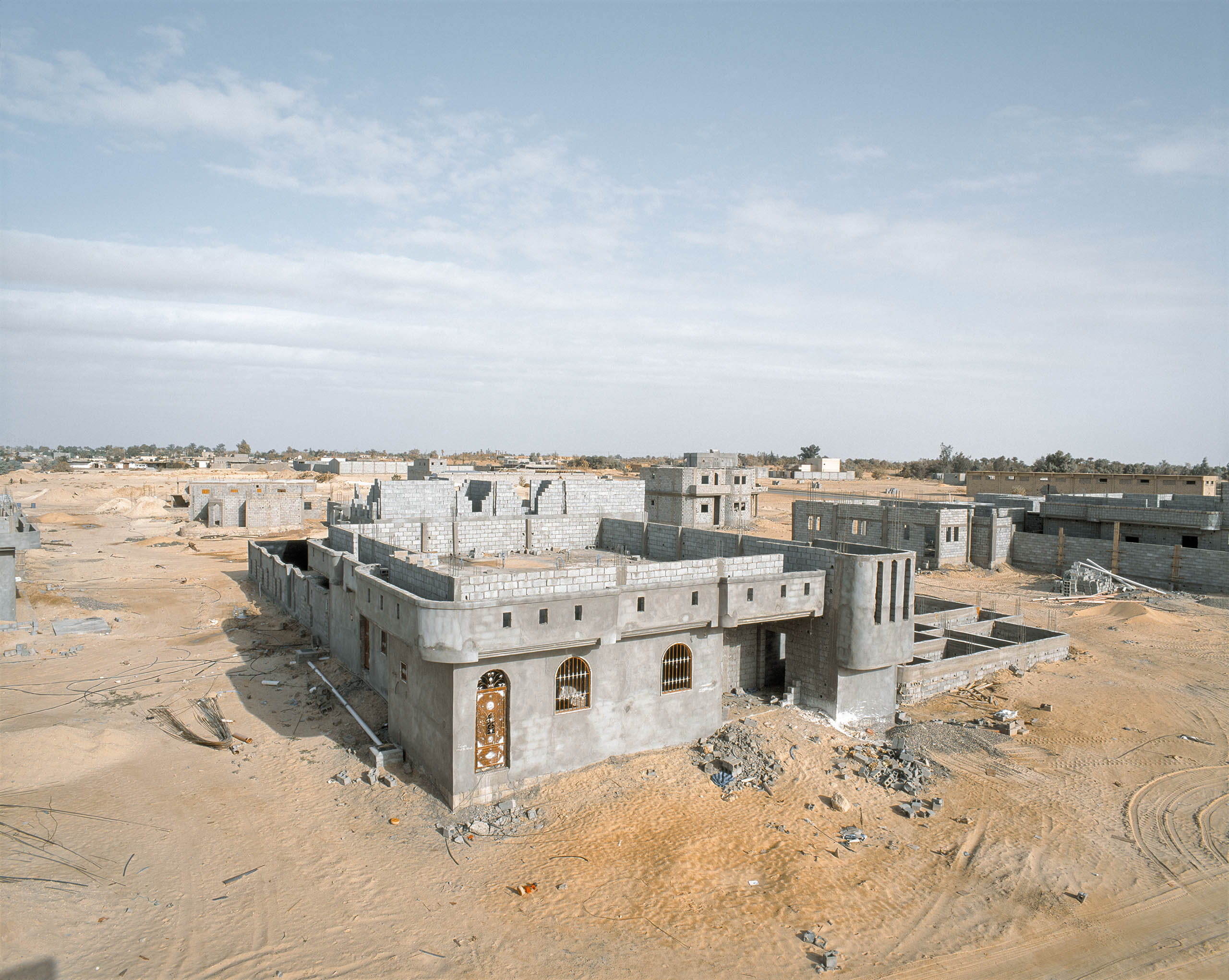 Smugglers have built massive homes in Murzuk, capital of the Tebu tribes, with the proceeds from looting state resources and trafficking. Murzuk, Southern Libya, March 2015.