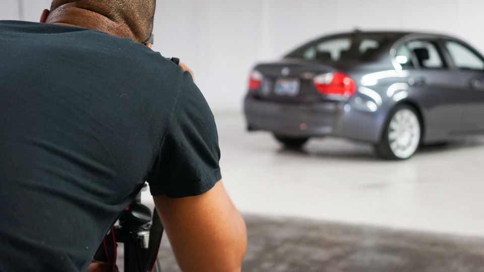 A photographer creates images of a Shift user's car before it's listed on their site, a peer-to-peer marketplace that announced $50 million in funding on Sept. 1.