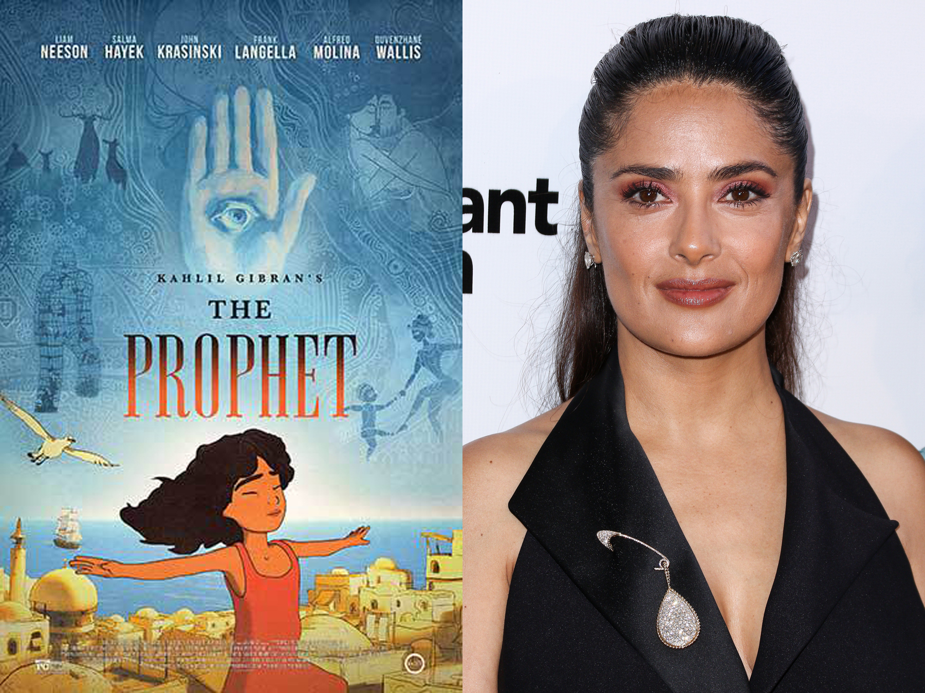 Salma Hayek Pinault attends the LA Special Screening of  Kahlil Gibran's The Prophet  held at LACMA's Bing Theatre on July 29, 2015, in Los Angeles.