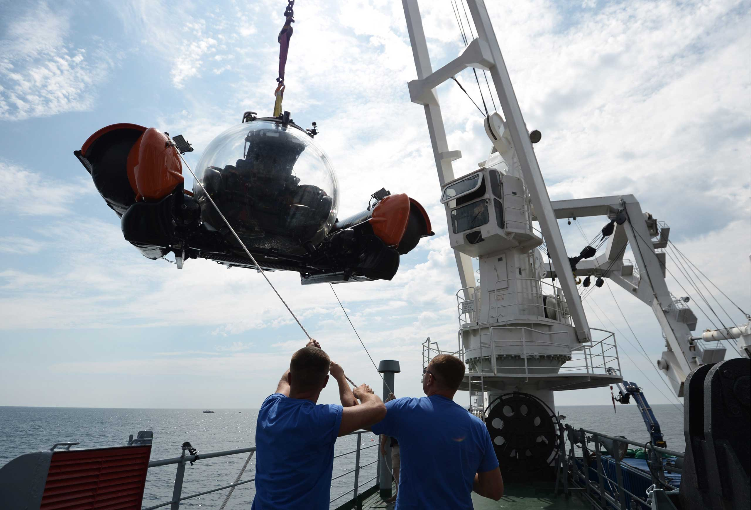 The C-Explorer submersible in which President Putin dived to the bottom of the Black Sea, on Aug. 18. 2015.