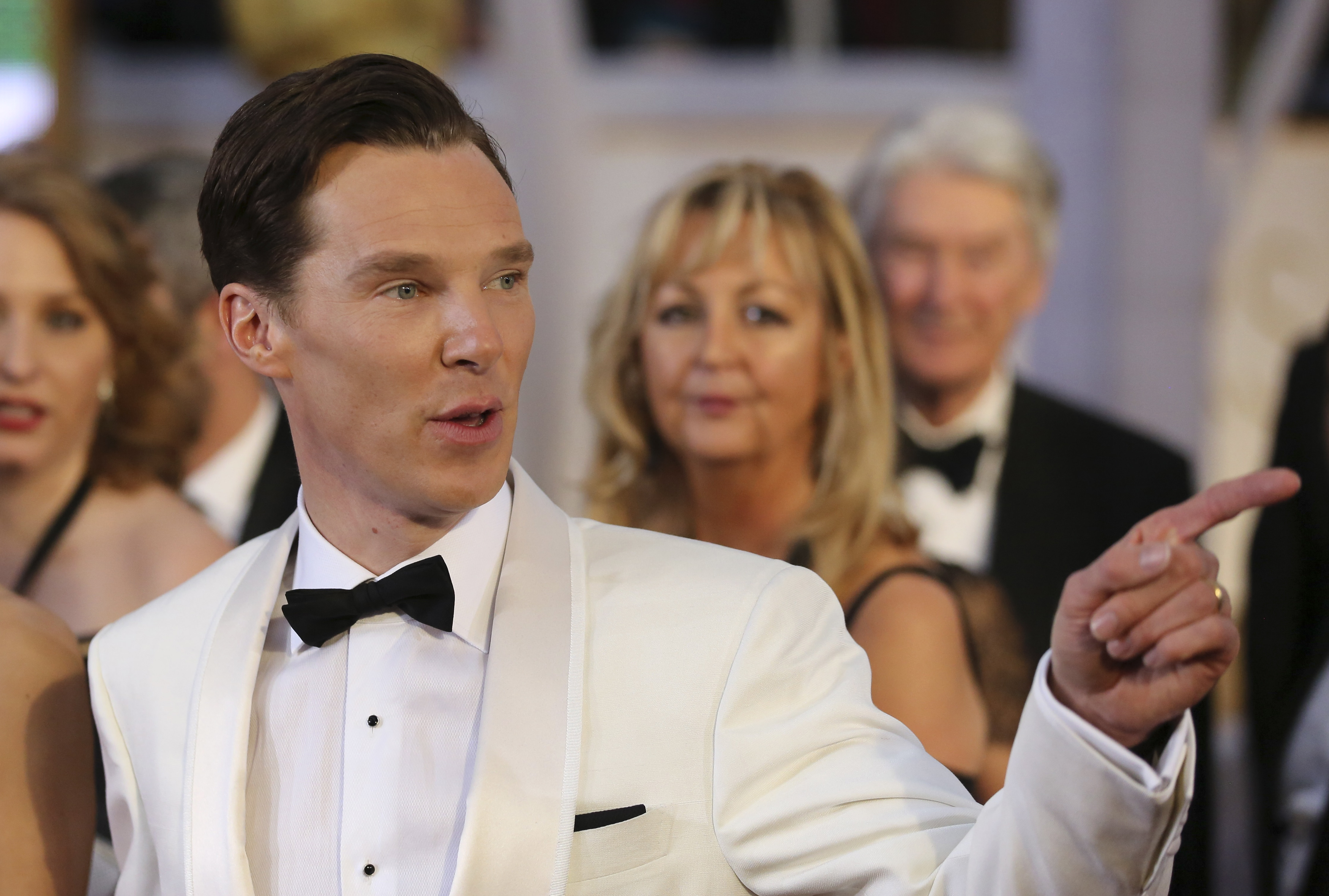 Benedict Cumberbatch, best actor nominee for his role in  The Imitation Game  arrives at the 87th Academy Awards in Hollywood, California Feb. 22, 2015