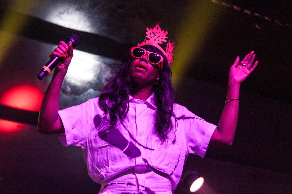 Santigold at the Absolut X New York event in New York City on July 11, 2013.