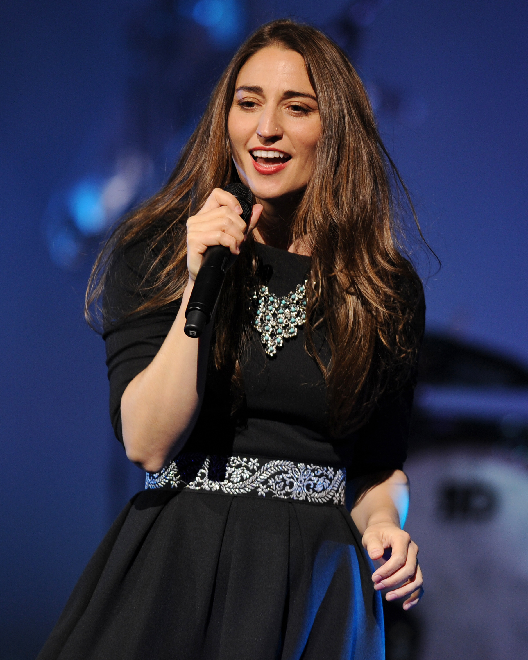 Sara Bareilles performs during the Little Black Dress Tour 2014 at the Seminole Casinos Hard Rock Live on July 25, 2014 in Hollywood, Florida.