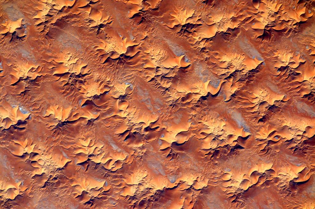 #EarthArt The color psychology of orange is optimistic. From my view things are looking up down there. #YearInSpace  - via Twitter on July 29, 2015