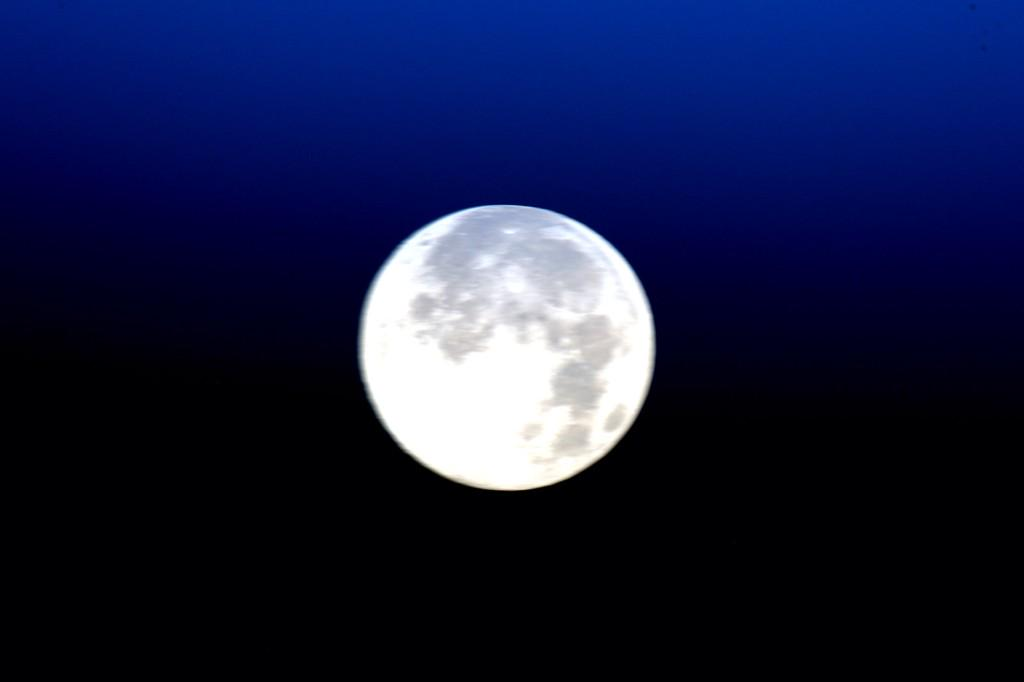 #TGIF Here's a preview of tonight's rare celestial surprise. #BlueMoon on the rise. #YearInSpace  - via Twitter on July 31, 2015