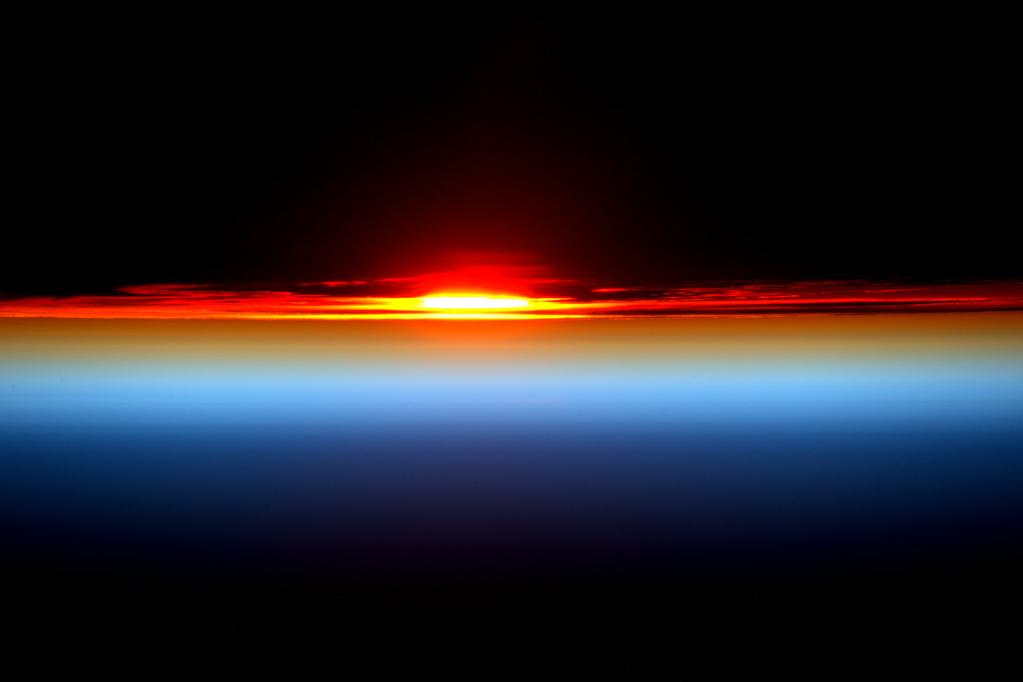 Day 127. Sunset returns! Perfect end. Thanks again for joining me today. Good night from @space_station! #YearInSpace  - via Twitter on Aug. 1, 2015