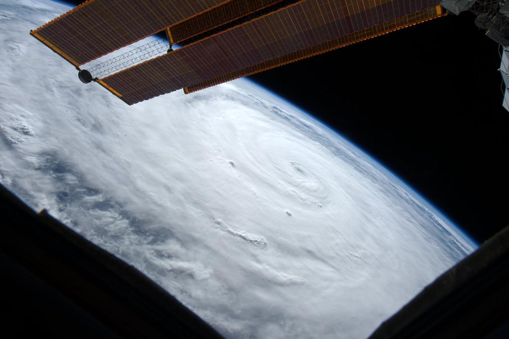 The view out my window this morning.#Typhoon #Soudelor still looking ominous from @Space_Station. #YearInSpace  - via Twitter on Aug. 6, 2015