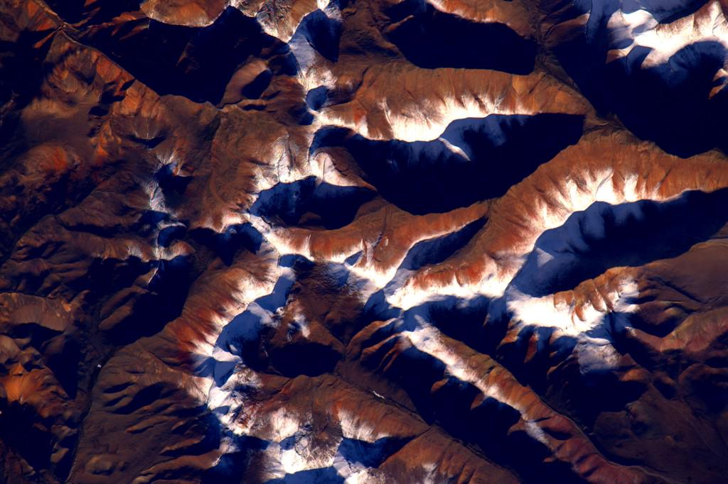 #Himalayas in #EarthArt form look a bit like funnel cake. #YearInSpace  - via Twitter on Aug. 11, 2015