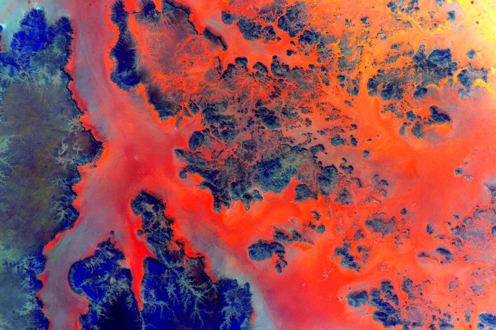 The #African #Desert burns bright this #Sunday morning. #YearInSpace  - via Twitter on Aug. 16, 2015