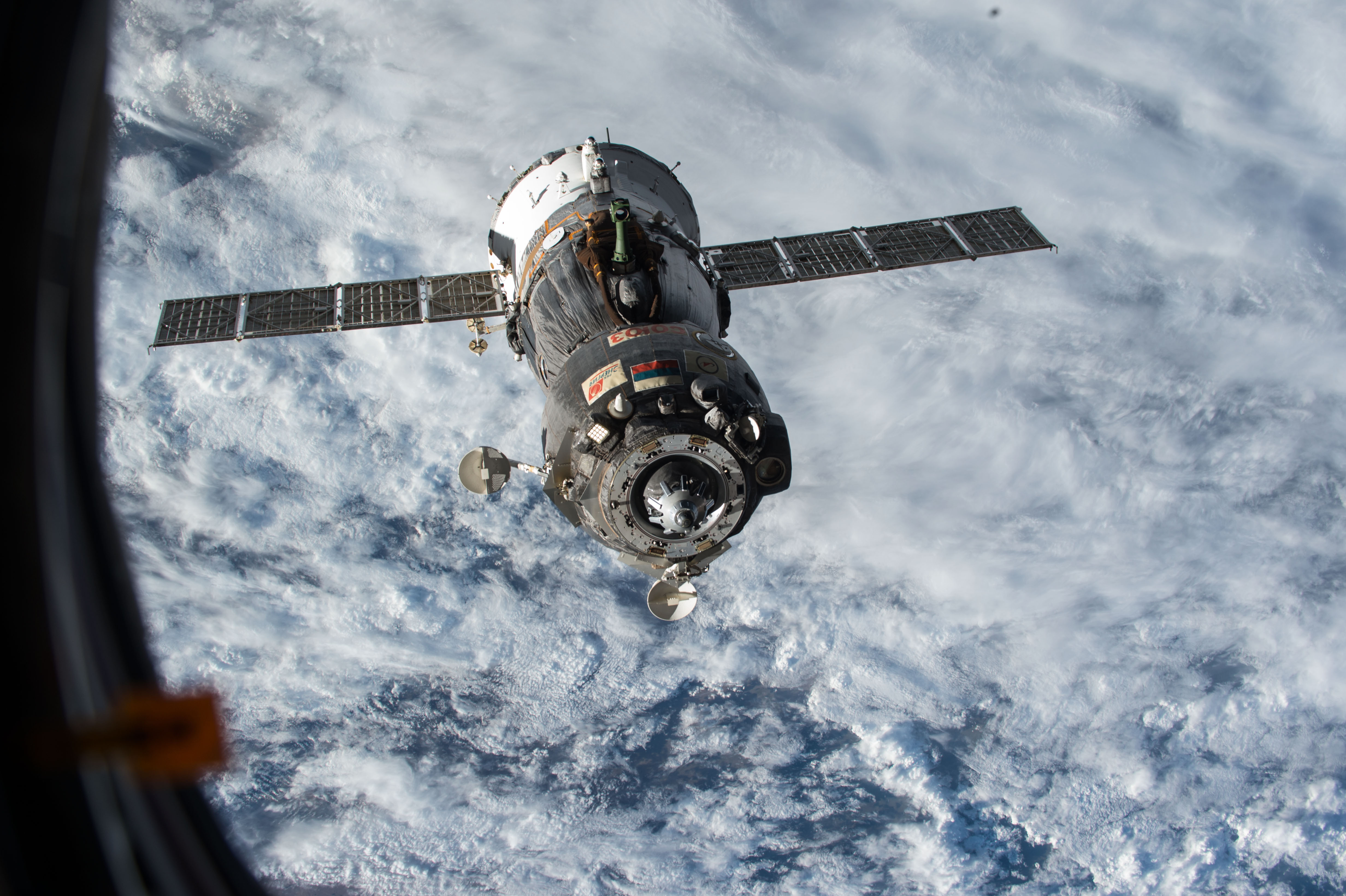 Need a lift? A Souyz spacecraft after undocking from the space station on June 11, 2015