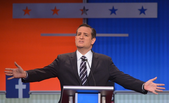 Texas Senator Ted Cruz participates in the Republican presidential primary debate on August 6, 2015 at the Quicken Loans Arena in Cleveland, Ohio.