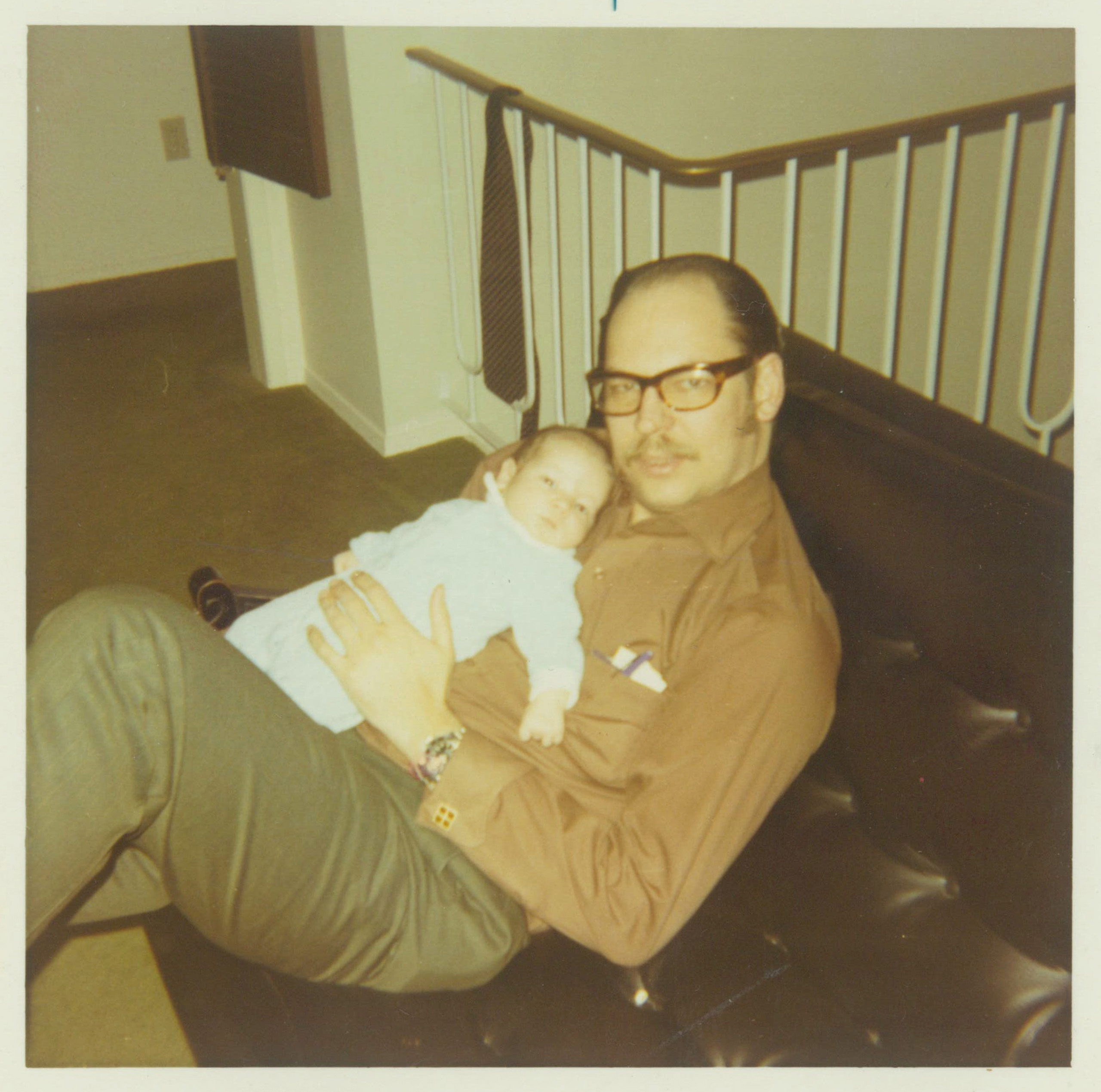 "Rafael Bienvenido Cruz with Rafael Edward ""Ted"" Cruz as an infant, early 1970s."