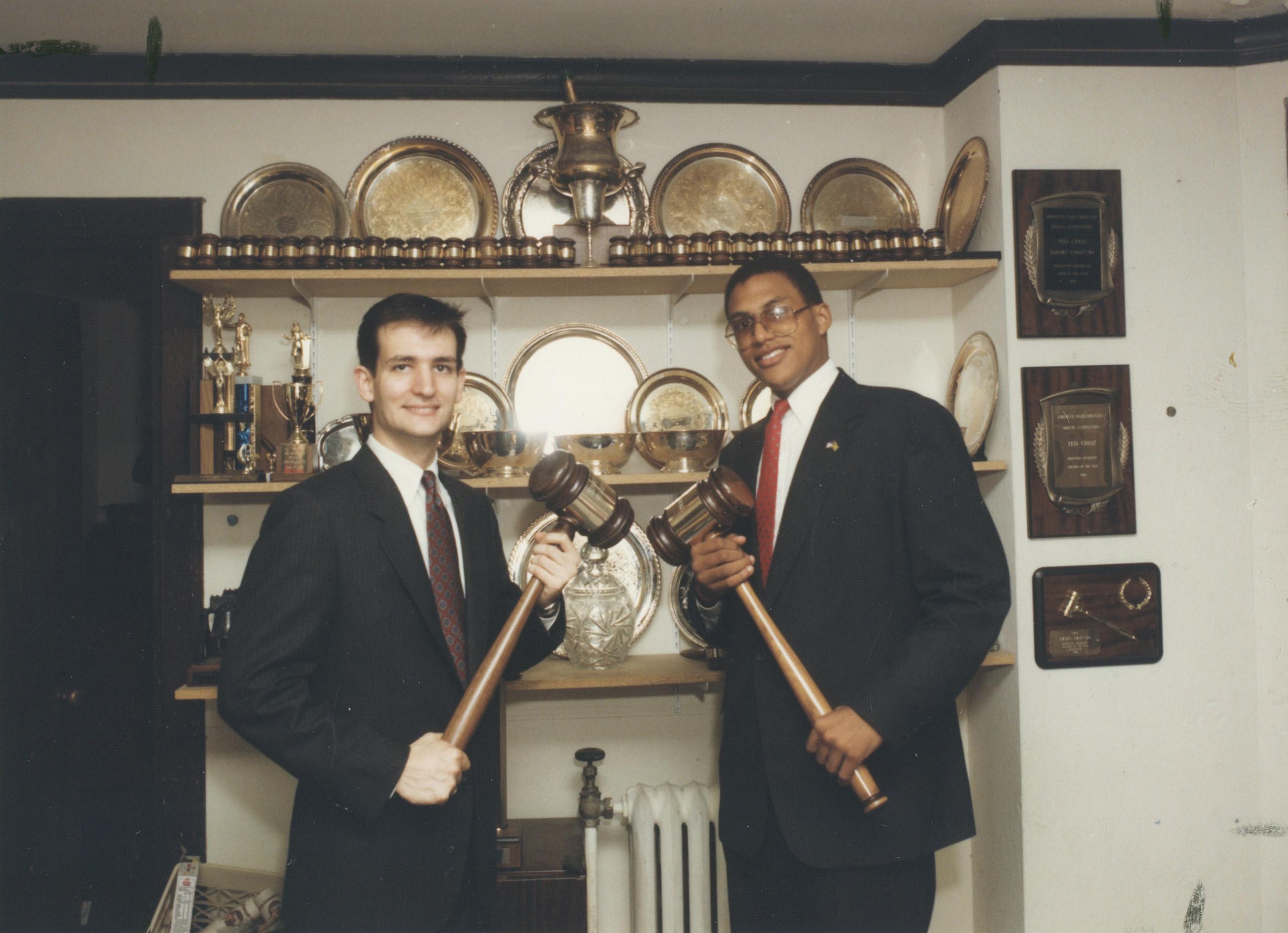 Ted Cruz and David Panton, debate teammates and close friends at Princeton University in Princeton, N.J. on June 5, 1992.