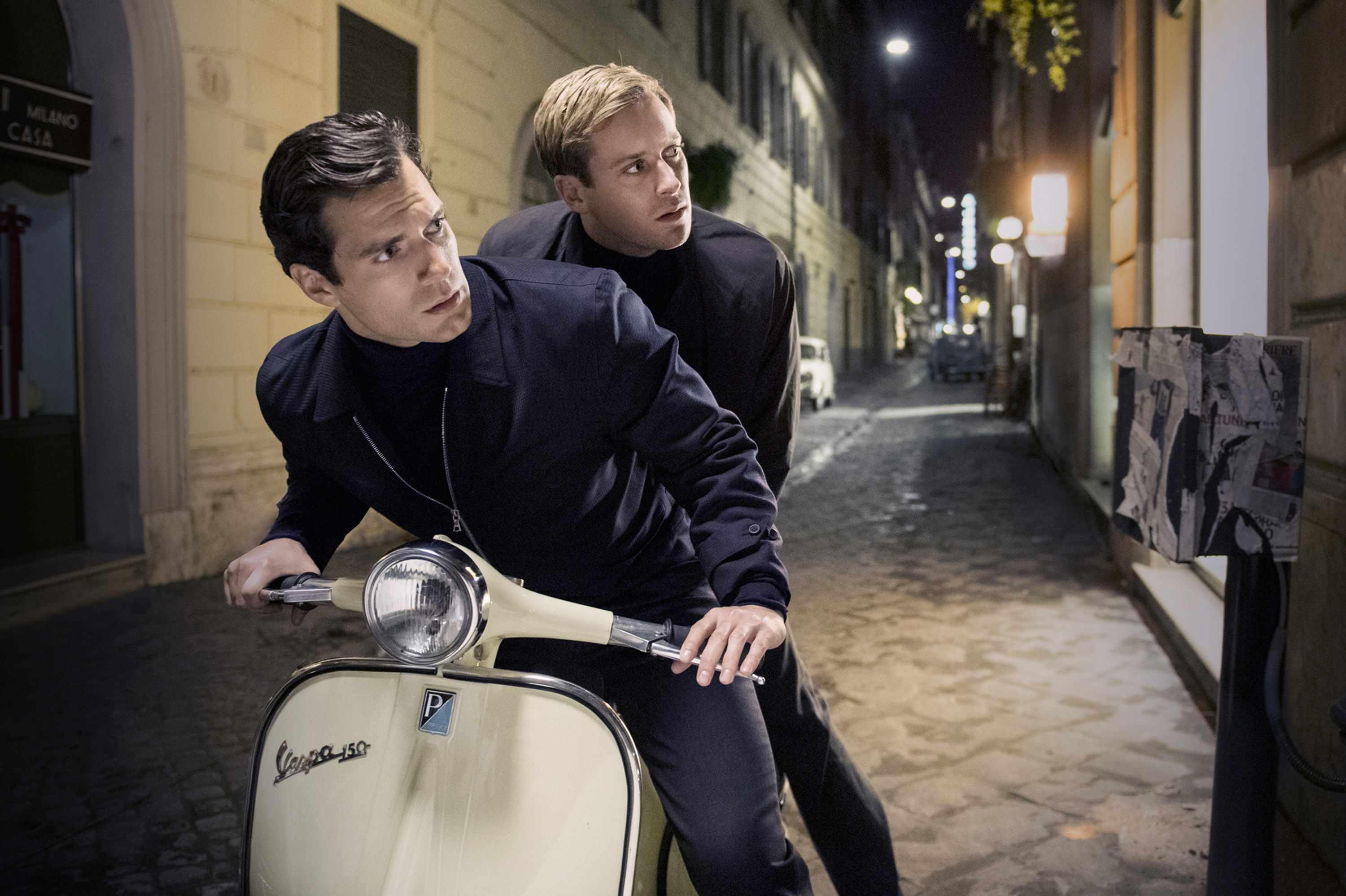 Cavill (left) and Hammer embody the stripped-down '60s chic Ritchie sought in The Man From U.N.C.L.E.