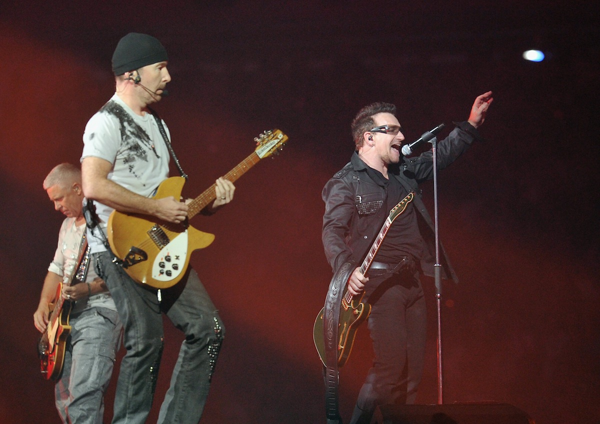 U2 at the New Meadowlands Stadium on July 20, 2011 in East Rutherford, N.J.