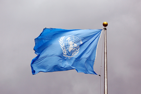 Flag of the United Nations at the headquarters of the United Nations in New York City on Sept. 24, 2014.