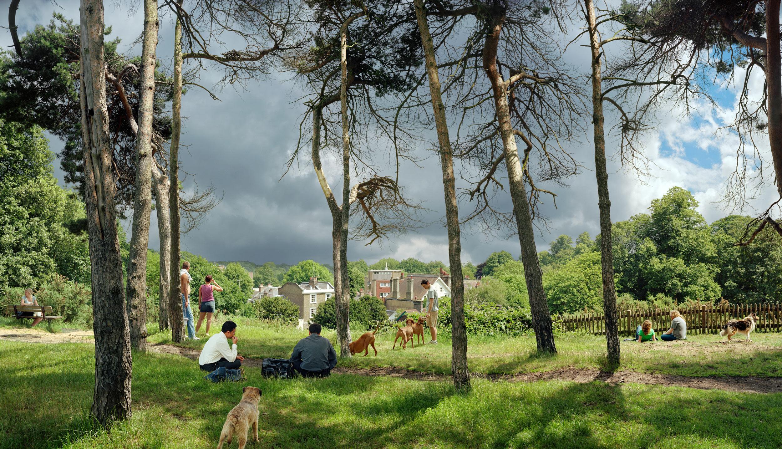 View of Vale of Heath, Looking Towards Hampstead