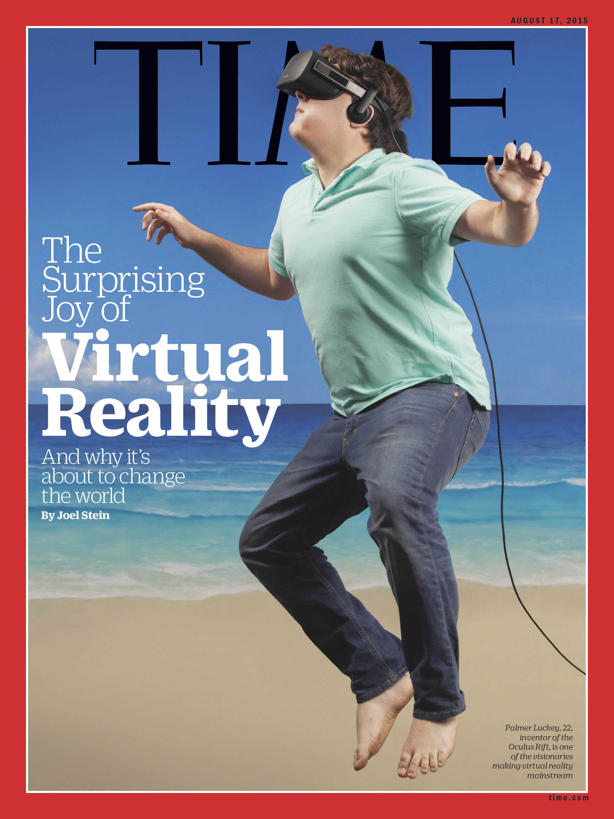 Palmer Luckey, 22, inventor of the Oculus Rift, is one of the visionaries making virtual reality mainstream
