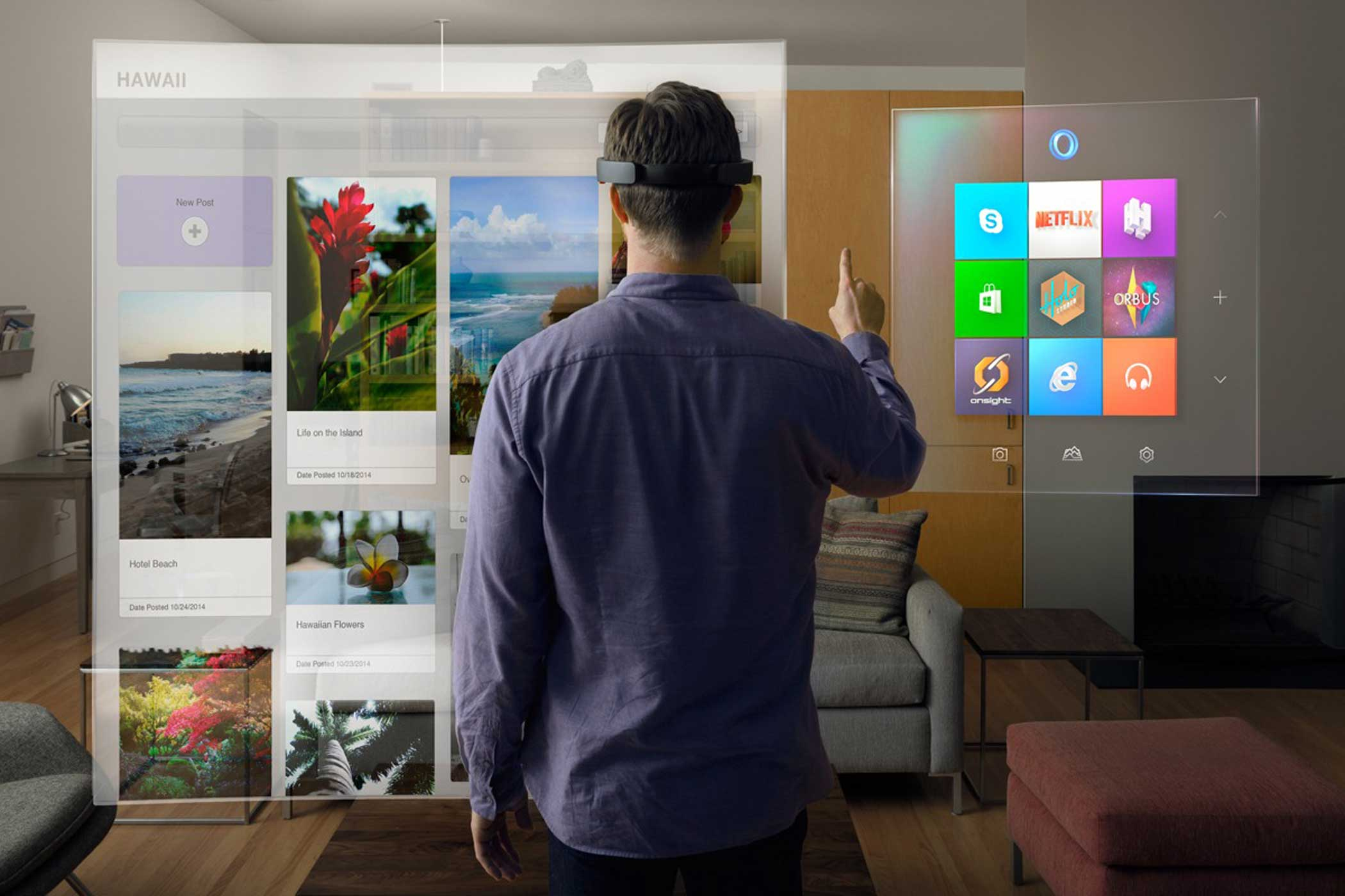 Microsoft Hololens game view