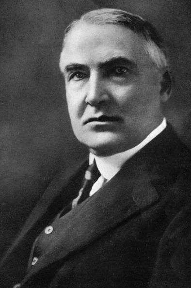 Warren G Harding, 29th President of the United States. Published in The American Presidents, (London, 1933).