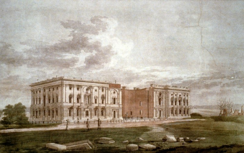 A view of the Capitol after the conflagration of Aug. 24, 1814.