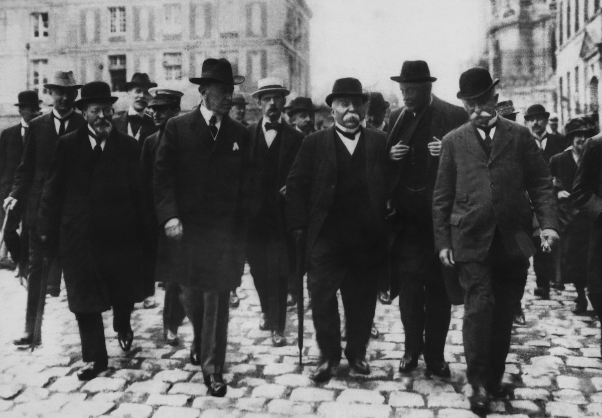 Wilson, Clemenceau, Lord Balfour and Orlando in 1919
