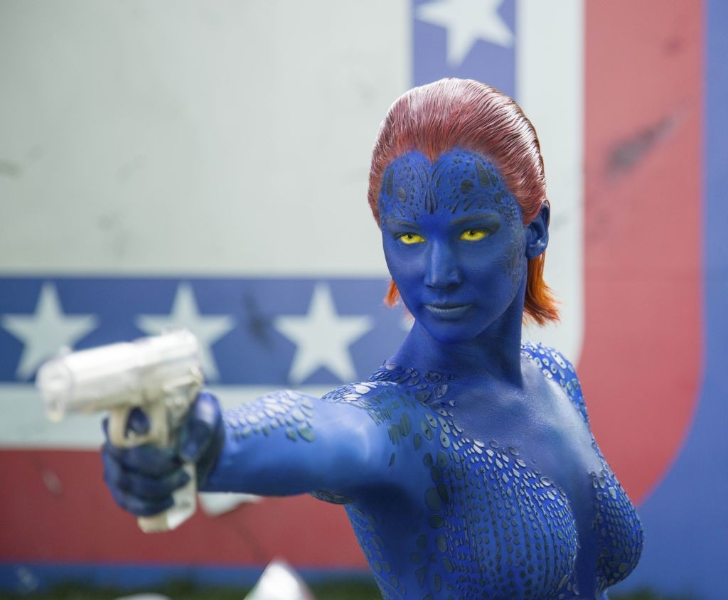 Jennifer Lawrence as Mystique in <i>X-Men: Days of Future Past</i>.