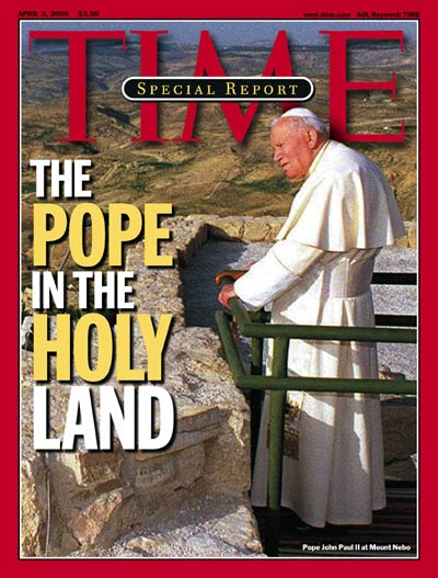 Pope John Paul II on the Apr. 3, 2000, cover of TIME