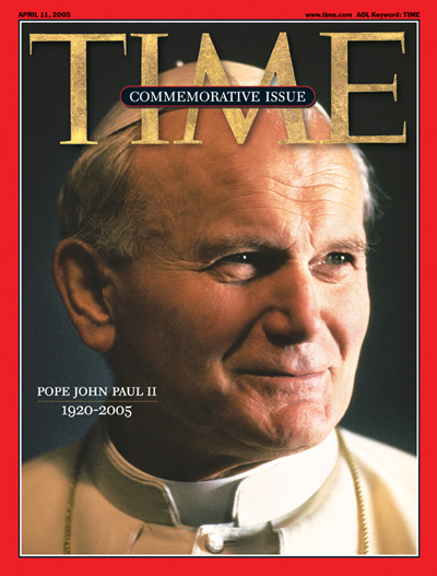 Pope John Paul II on the Apr. 11, 2005, cover of TIME