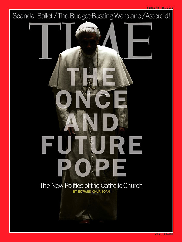 Pope Benedict XVI on the Feb. 25, 2013, cover of TIME