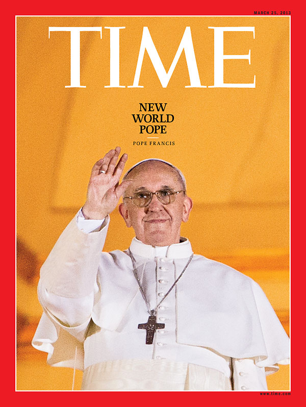 Pope Francis on the Mar. 25, 2013, cover of TIME