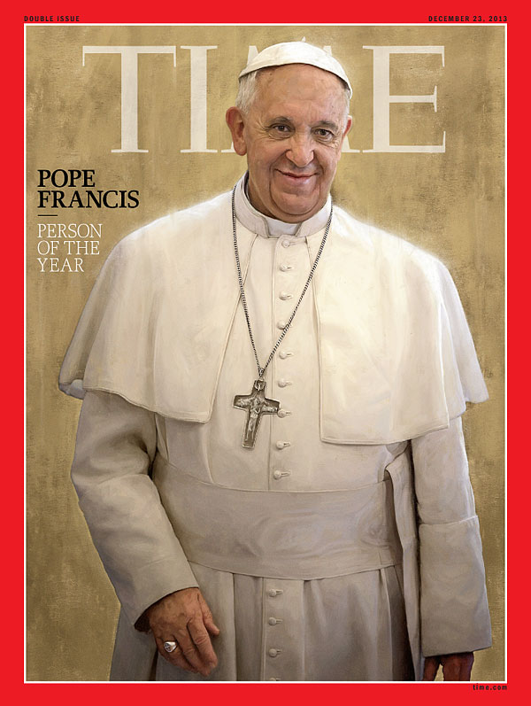 Pope Francis, Person of the Year, on the Dec. 23, 2013, cover of TIME