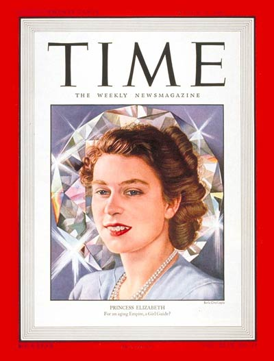 Then-Princess Elizabeth on the Mar. 31, 1947, cover of TIME