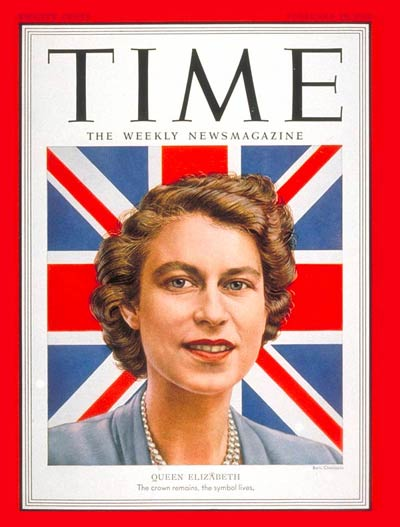 Queen Elizabeth on the Feb. 18, 1952, cover of TIME, following her ascension to the throne