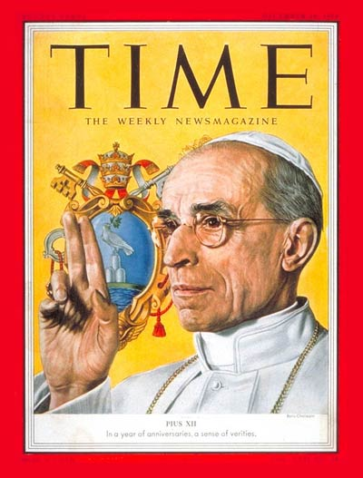 Pope Pius XII on the Dec. 14, 1953, cover of TIME