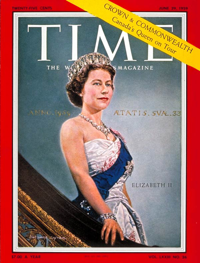 The Queen on the June 29, 1959, cover of TIME
