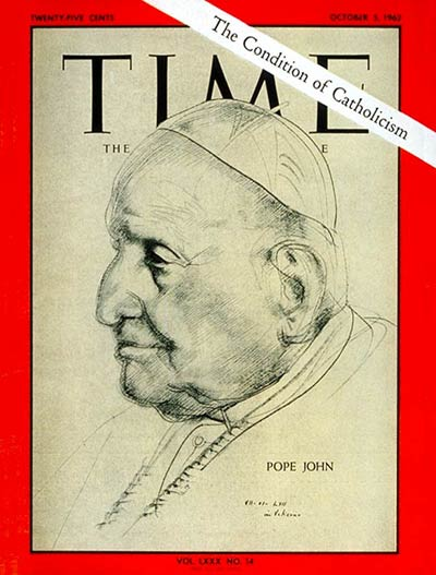 Pope John XXIII on the Oct. 5, 1962, cover of TIME
