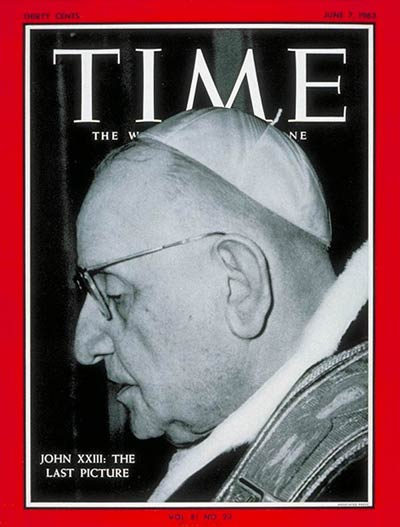 Pope John XXIII on the June 7, 1963, cover of TIME