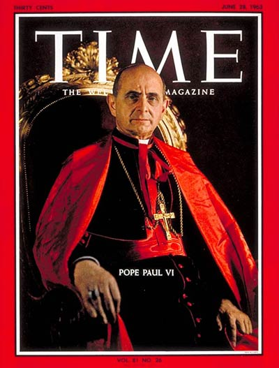 Pope Paul VI on the June 28, 1963, cover of TIME