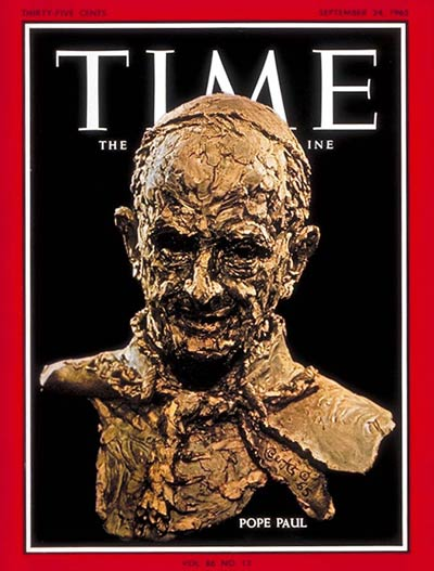 Pope Paul VI on the Sep. 24, 1965, cover of TIME